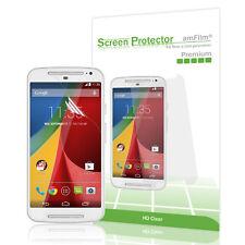 Moto G2 amFilm Premium HD Clear (Invisible) Screen Protector (3 Pack)