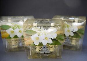 Bath Body Works Home SANDALWOOD VANILLA Wallflower Refills 6 Bulbs 3 Boxes
