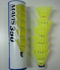 5 Tubes YONEX Mavis 350 Yellow Nylon Shuttlecocks Middle Speed Blue Cap Japan