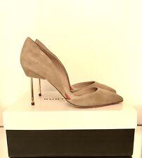 Kurt Geiger London Shoes Size 7 EU 40 Beaumont Brown Mid Heel Suede Courts £199