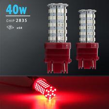 2X 3157/3156 Red 40W High Power SMD LED Turn Signal Blinker Corner Light bulbs