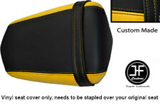 YELLOW AND BLACK VINYL CUSTOM FITS YAMAHA 600 YZF R6 REAR SEAT COVER ONLY 03-05