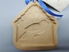Brown Bag Cookie Art 1997 Hill Design Bird House Cookie / Chocolate Mold