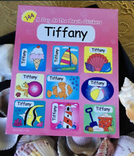 """""""A Day At The Beach"""" TIFFANY Name Stickers New"""