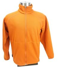 Salomon Jacket Mens Burnt Orange Polyester Soft Shell Fleece lined
