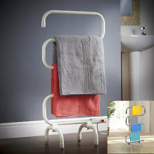 Freestanding Plug In Electric Heated Portable Towel Clothes Rail Heater Dryer UK