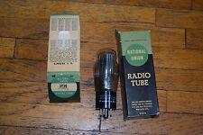 vintage nos national union 5y3g tube bottom d getter black plates test great amp