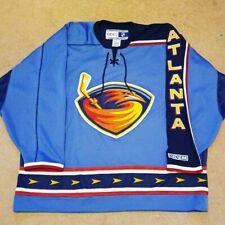 Early 2000's Size Adult XXL CCM Atlanta Thrashers Blue NHL Hockey Jersey