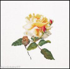 Thea Gouverneur  416  Lin  Rose Jaune  Kit  Broderie  point de croix  compté