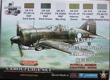 LifeColor Acrílicos LC-XS02 RAAF (Australian af) Segunda Guerra Mundial Conjunto de Pintura 2 Edición Limitada