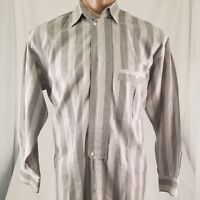Valentino Uomo Mens sz Small Covered Placket Long Sleeve Button Front Shirt