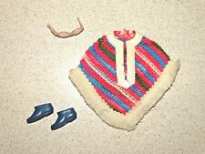 Barbie:  Francie VINTAGE Complete PONCHO BRAVO Outfit!