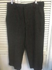 Woolrich Heavy Wool Blend Malone Pattern Hunting Pants Men's 34x25