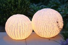 Garten Bodenleuchte 'Blossom' Sandstrahloptik Deko Lampe H 31cm Foto links NEU