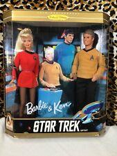 NIB Star Trek Gift Set Barbie & Ken Collector Edition 1996 Mattel