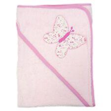 Watch me Grow cape de bain éponge rose clair motif brodé papillon 70x70 cm