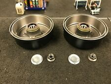 VAUXHALL CORSA C COMBO TIGRA 2 REAR BRAKE DRUMS WHEEL BEARING FITTED + ABS RING