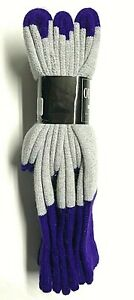 3 /6 /12 Pair Men Gray w/Purple Out Door Thermal Merino Wool Boot Sock Size10-13