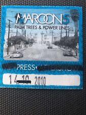 Maroon 5 2010 Press Pass