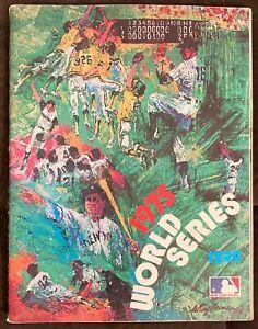 1975 World Series Program Boston Red Sox @ Cincinnati Reds Unscored - Fisk HR!