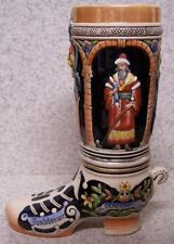 Beer Boot Stein Stoneware Brave and Wise 2 Liter NEW Made in Germany boxed