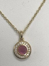 "Ippolita 18k Lollipop Mini Composite Ruby & Diamond Necklace 18"" Long"