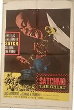 SATCHMO THE GREAT - LOUIS ARMSTRONG, 1957 ONE SHEET