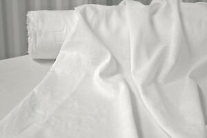 """Bright White Cotton Lawn Fabric 100% Cotton 56"""" Wide Fabric by the Yard"""