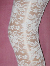White Lace Footless High Quality. Ladies summer designer tights