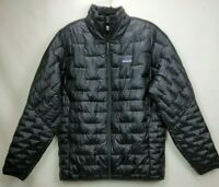 Patagonia Micro Puff Insulated Jacket Mens Size XL Black Full Zip Packable Coat