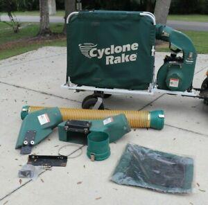 Cyclone Rake Classic Leaf Lawn Vacuum w/ Briggs & Stratton Engine & Manual