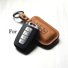 Handmade Leather Smart Car Remote Key case Holder/ K5 K7 Tucson Genesis/KIA /Fob