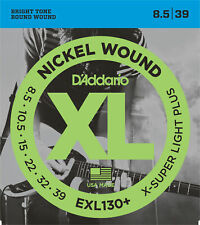 10 Sets D'Addario EXL130+ Nickel Wound Extra Super Light Plus 8.5-39 Gtr Strings