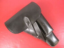 WWII German Black Leather Holster for the Browning Hi Power P35 Pistol - Repro