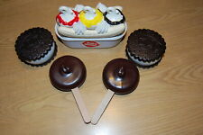 5 DAIRY QUEEN ICE CREAM PLAY FOODS - SPLIT, SANDWICHES & DILLY BARS - VGUC ~~~