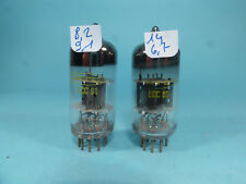 two ECC81 12AT7 RTC made in England, B code, by Mullard Philips, near NOS tested