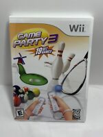 Game Party 3 (Nintendo Wii, 2009) Sports Video Game Complete W/ Manual