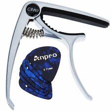 Anpro Capodastre Guitare 6pcs Médiators electrique Acoustique