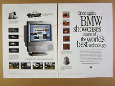 1996 Apple Power Mac 9500 & Internet Server for BMW's Website vintage print Ad