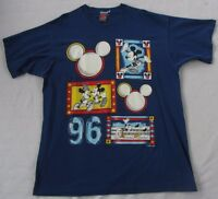VTG Mickey Mouse Unlimited Men's S/S Crewneck Blue T Shirt - USA Made - One Size
