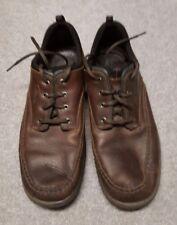 Clarks Men's Travel Trek Pebbled Leather Oxford Shoes Brown EUC! Size 11,5 M