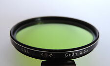 Filtre UGL GRUN 2,5x pour Photo / Ciné : Diamètre 49mm - Vert