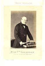 France, M. le V.te Lanjuinais, Député de la Loire Inférieure  vintage albumen pr