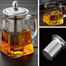 350/550/750ML Heat Resistant Glass Teapot with Strainer Filter Infuser Tea Pot
