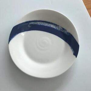 """6"""" Vintage Royal Doulton Plate London Pacific Dessert Size Cobalt Blue Splash"""
