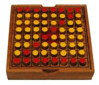 Ethical Thai Wooden Othello Strategy Travel Board Game Brain Teaser IQ 13x13x3cm