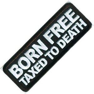 Born Gratuit Taxés Pour Death à Repasser/à Coudre Chiffon Patch (CP)