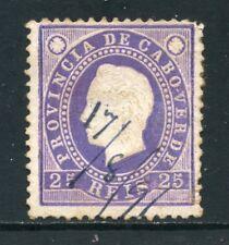 1886 - CAPO VERDE - 25 r. LILLA - USATO - LOTTO/27025