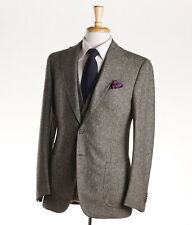 NWT $7200 CESARE ATTOLINI Three-Piece Donegal Tweed Wool Suit 38 R (Eu 48)