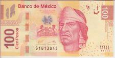 Mexico Banknote P124 100 Pesos 10.6.2013 Serie AG Prefix G, UNC